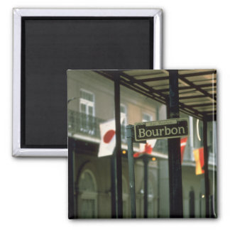 Bourbon Street Sign in New Orleans Magnet