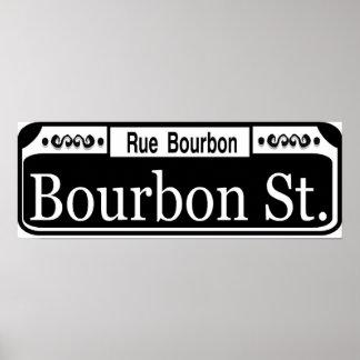 Bourbon Street Sign Poster