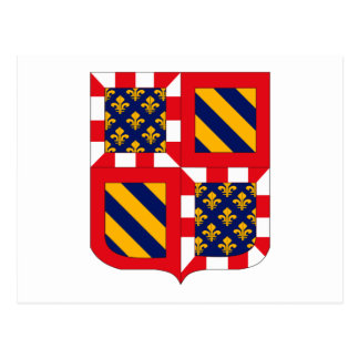 Bourgogne Coat of Arms Postcard