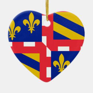 Bourgogne (France) Flag Ceramic Ornament