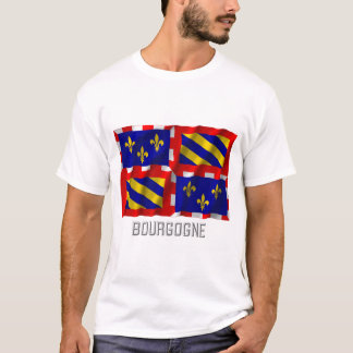 Bourgogne waving flag with name T-Shirt