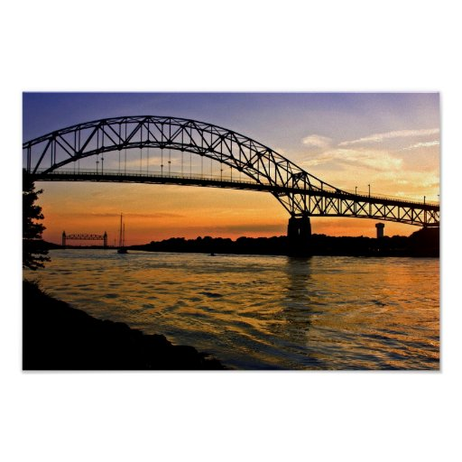Bourne Bridge Sunset Poster