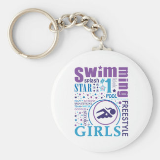 Bourne Swimming Key Ring
