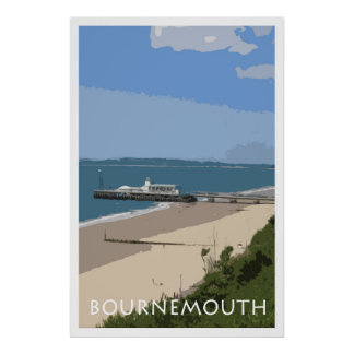 BOURNEMOUTH Vintage Style Poster