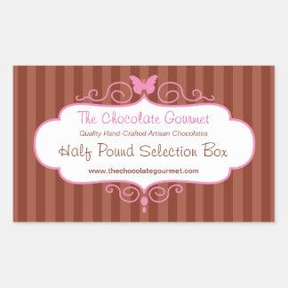 Boutique candy shop pink food sale label sticker