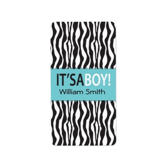 Boutique Chic Boy Mini Hershey Bar Label Address Label