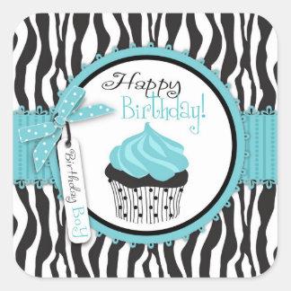 Boutique Chic Cupcake Boy Sticker 2B