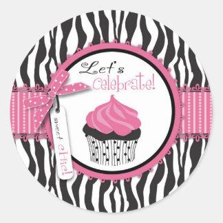 Boutique Chic Cupcakes Sticker