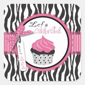 Boutique Chic Cupcakes Sticker 2