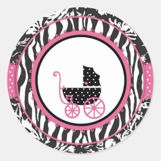 Boutique Chic Sticker2_Hernandez Round Sticker