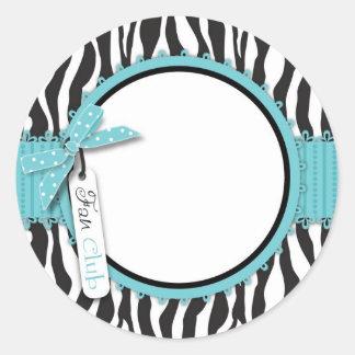 Boutique Chic Sticker Aqua