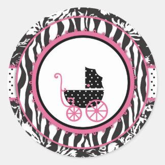 Boutique Chic Sticker_Hernandez Round Sticker