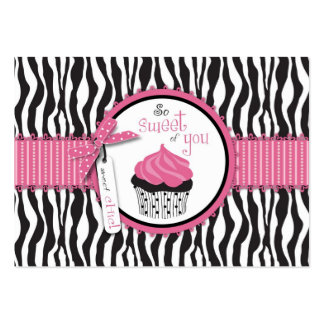 Boutique Chic TY Cupcakes Gift Card Business Card Templates