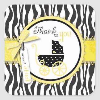 Boutique Chic TY Square Sticker Yellow