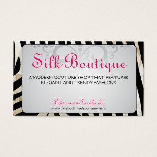 Boutique-Classy Zebra Flourish Business Cards