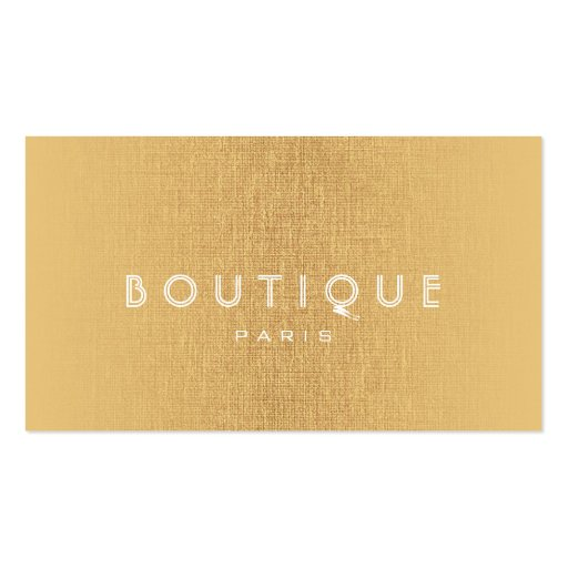 Boutique-Fashion Accessories Gold Linen Card Business Card Templates