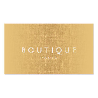 Boutique-Fashion Accessories Gold Linen Card Pack Of Standard Business Cards