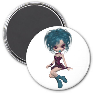Boutique Gothique Mascot Goth Girl 9 7.5 Cm Round Magnet