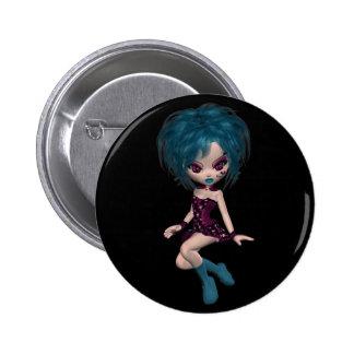 Boutique Gothique Mascot Goth Girl 9 Button
