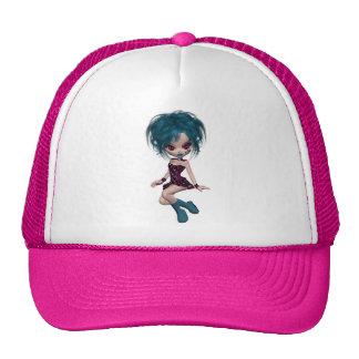 Boutique Gothique Mascot Goth Girl 9 Trucker Hats