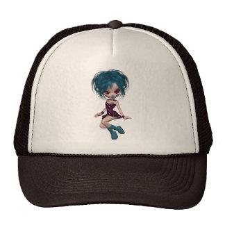 Boutique Gothique Mascot Goth Girl 9 Mesh Hat