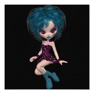 Boutique Gothique Mascot Goth Girl 9 Custom Invite