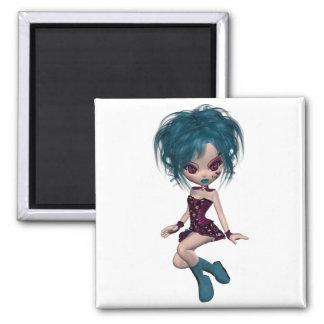 Boutique Gothique Mascot Goth Girl 9 Fridge Magnet