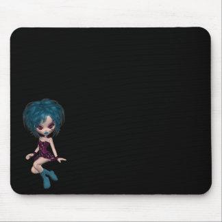 Boutique Gothique Mascot Goth Girl 9 Mouse Pad