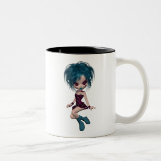 Boutique Gothique Mascot Goth Girl 9 Coffee Mugs