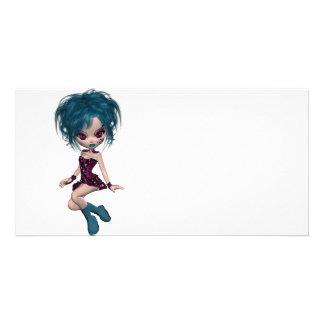 Boutique Gothique Mascot Goth Girl 9 Custom Photo Card