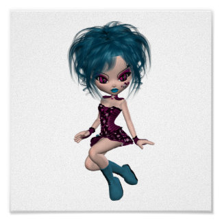 Boutique Gothique Mascot Goth Girl 9 Poster