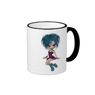 Boutique Gothique Mascot Goth Girl 9 Ringer Mug