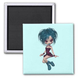 Boutique Gothique Mascot Goth Girl 9 Square Magnet