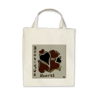 Boutique Hearts - Grocery Tote Bags