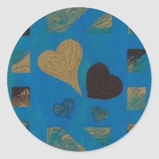 Boutique Hearts Turquoise - sticker