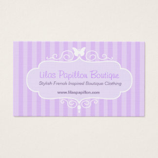 Boutique shop lilac purple clothing swing hang tag