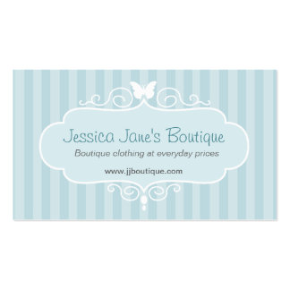 Boutique shop mint blue clothing swing tag pack of standard business cards
