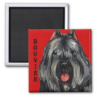 Bouvier Color Block Square Magnet