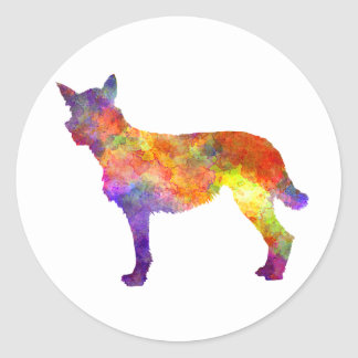 Bouvier DES Ardennes in watercolor Round Sticker