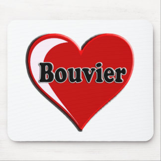 Bouvier des Flanders on Heart for dog lovers Mouse Pads