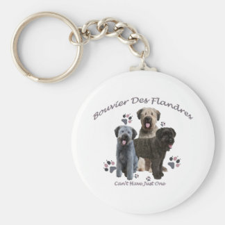 Bouvier Des Flandres Can't Have Just One Key Ring