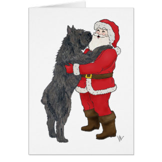 Bouvier des Flandres Christmas Greeting Card