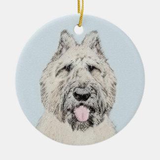 Bouvier des Flandres Painting - Original Dog Art Ceramic Ornament