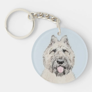 Bouvier des Flandres Painting - Original Dog Art Key Ring