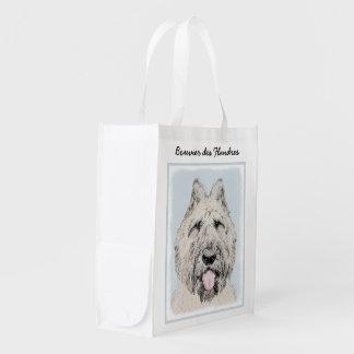 Bouvier des Flandres Painting - Original Dog Art Reusable Grocery Bag