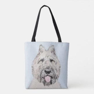 Bouvier des Flandres Painting - Original Dog Art Tote Bag