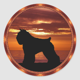 Bouvier des Flandres Sienna Sunset Stickers