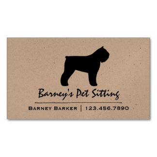 Bouvier des Flandres Silhouette Magnetic Business Card