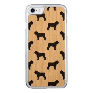 Bouvier des Flandres Silhouettes Pattern Carved iPhone 8/7 Case