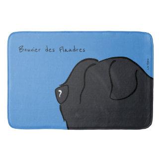 Bouvier of the Flandres head silhouette Bath Mat